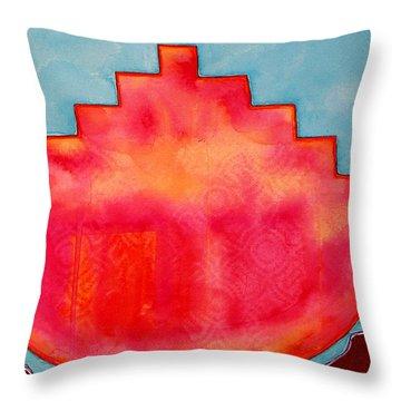 Fat Sunrise Original Painting Throw Pillow