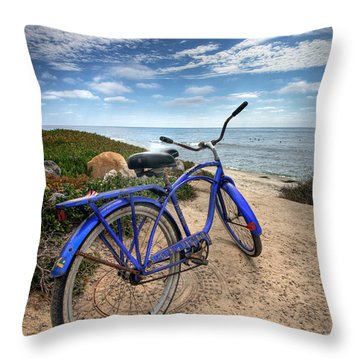 Fat Tire Throw Pillow