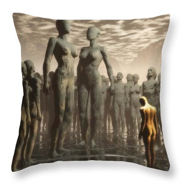 Fate Of The Dreamer Throw Pillow by John Alexander