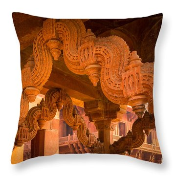 Fatehpur Sikri Detail Throw Pillow by Inge Johnsson