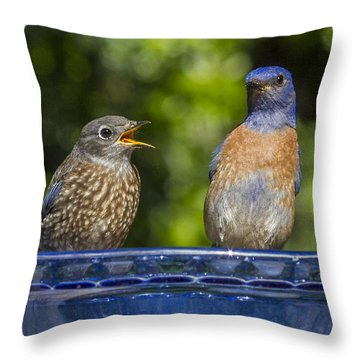 Father And Baby Throw Pillow by Jean Noren
