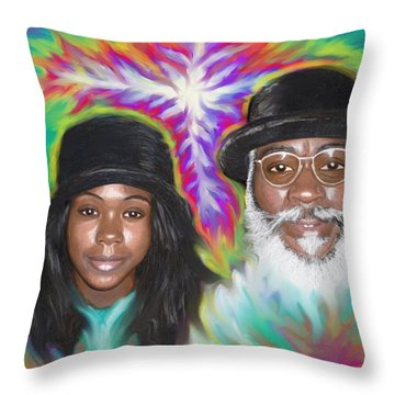 Father And Daughter Spirit Ministry  Throw Pillow