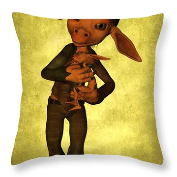 Throw Pillow featuring the digital art Father And Son by Gabiw Art