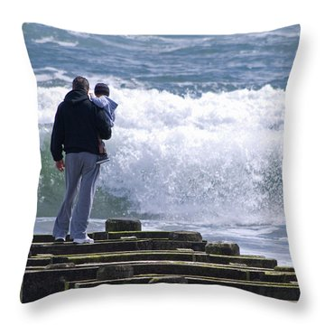 Throw Pillow featuring the photograph Father And Son by Greg Graham