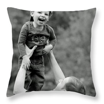 Father And Son IIi Throw Pillow