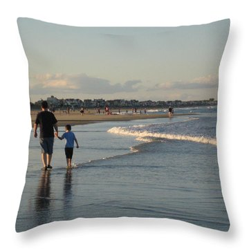 Father And Son Throw Pillow by Melissa McCrann