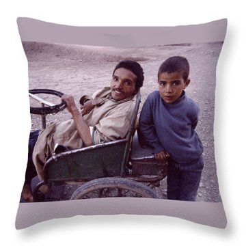 Father And Son Throw Pillow by Shaun Higson