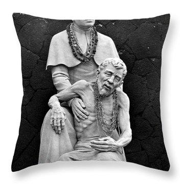 Father Damien Of Molokai Throw Pillow by Karon Melillo DeVega