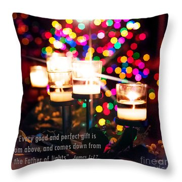 Father Of Lights Throw Pillow by MaryJane Armstrong