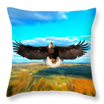 Father Restore Our Land Throw Pillow by Randall Branham