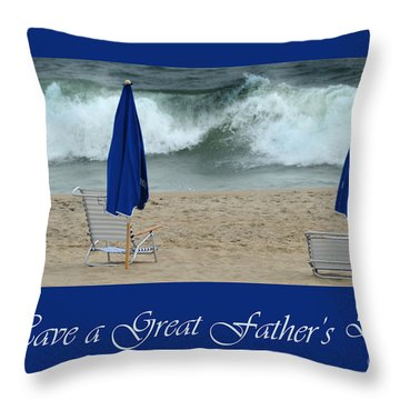 Father's Day Card Throw Pillow by Randi Grace Nilsberg