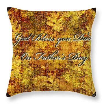 Father's Day Greeting Card IIi Throw Pillow by Debbie Portwood