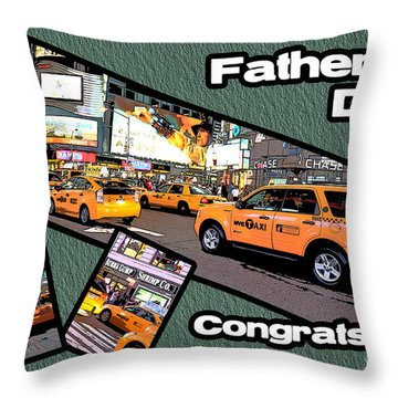 Father's Day Throw Pillow by Randi Grace Nilsberg