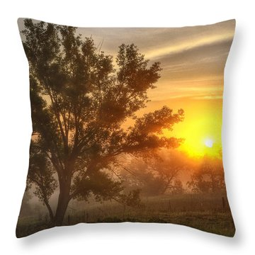 Father's Day Sunrise Throw Pillow