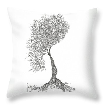Fatigue Throw Pillow