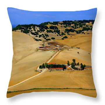 Farm In Rural Tarquinian Throw Pillow