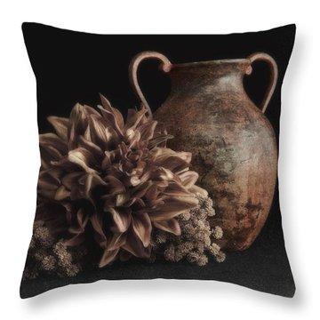 Faux Flower Still Life Throw Pillow