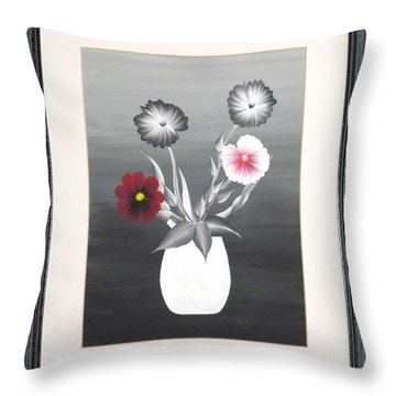 Faux Flowers II Throw Pillow