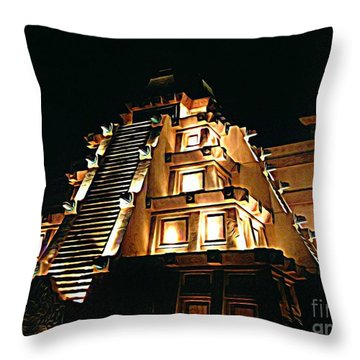 Faux Myan Pyramid Throw Pillow by John Malone