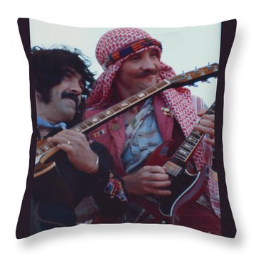 Favorite Of Manny Charlton And Zal Cleminson - Nazareth At Day On The Green 2 - 4th Of July 1979  Throw Pillow