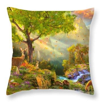 Fawn Mountain Throw Pillow by Aimee Stewart