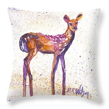 Fawn Rising Throw Pillow