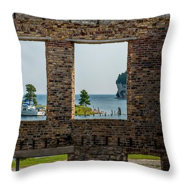 Fayette Ruins Throw Pillow by Paul Freidlund
