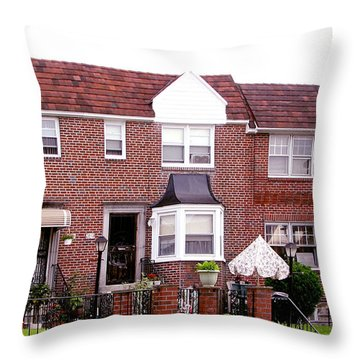 Throw Pillow featuring the photograph Fayette Street by Christopher Woods