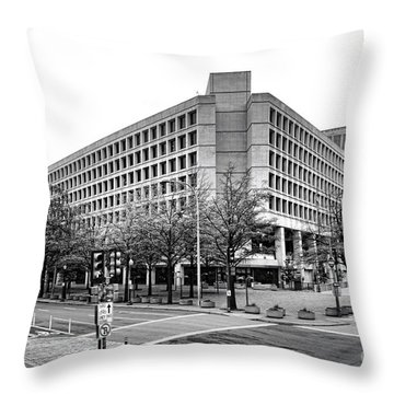 Fbi Building Front View Throw Pillow