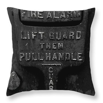 Throw Pillow featuring the photograph Fdny - Alarm by James Aiken