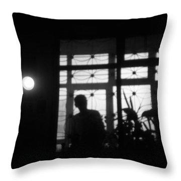 Fear Of The Dark Throw Pillow by Taylan Apukovska