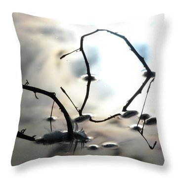 Feather And Branches Throw Pillow
