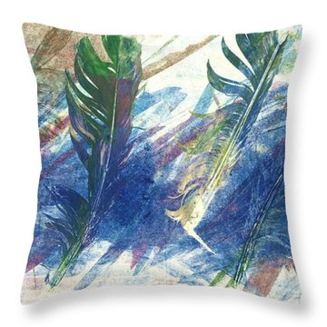 Feather Dance Throw Pillow