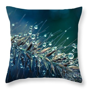 Feather Grass Dance  Throw Pillow by Jean OKeeffe Macro Abundance Art