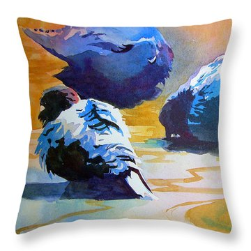 Feather Light Throw Pillow by Kris Parins