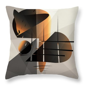 Feather Moon Throw Pillow