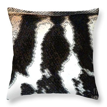 Throw Pillow featuring the photograph Feather Textures by Sally Simon