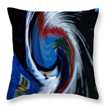 Throw Pillow featuring the photograph Feather Whirl by Randy Pollard