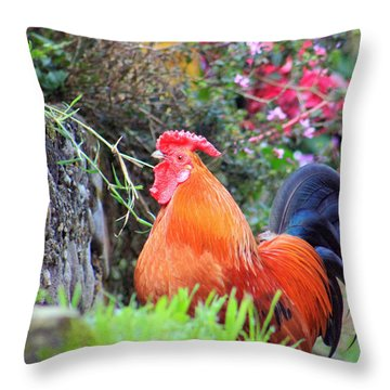feathered alarm II Throw Pillow