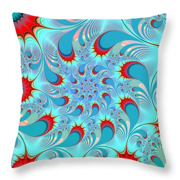 Feathered Coil Throw Pillow by Kevin Trow