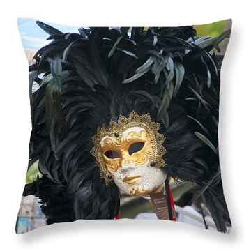 Feathered Glory In Venice Throw Pillow