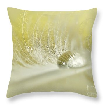 Feathered Softness Throw Pillow by Kaye Menner