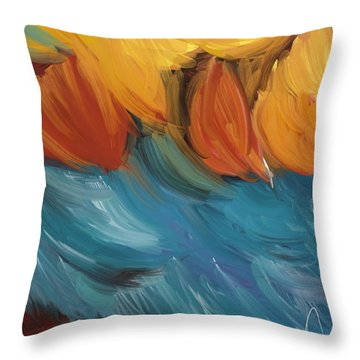 Feathers 5 Throw Pillow by Naomi McQuade