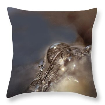 Feathers And Pearls Throw Pillow by Susan Capuano