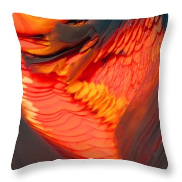 Feathers And Scales Throw Pillow