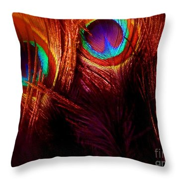 Feathers Throw Pillow by Newel Hunter