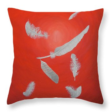 Feathers Throw Pillow by Sven Fischer