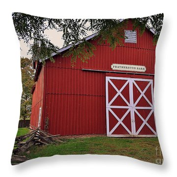 Featherstone Red Barn Throw Pillow