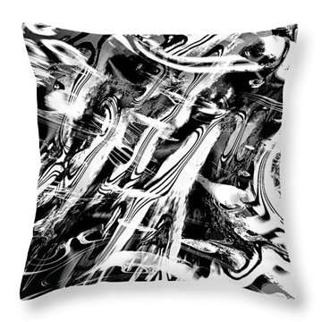 Black And White Abstract Throw Pillow by Kellice Swaggerty