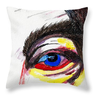Februareye Throw Pillow by Phil Strang